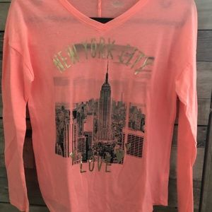 Justice Shirts & Tops - Justice Girls Long Sleeve NYC T-Shirt